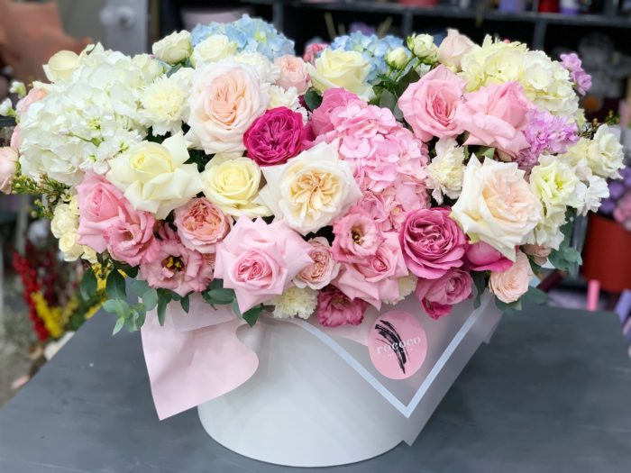 Коробка цветов Сочи на заказ