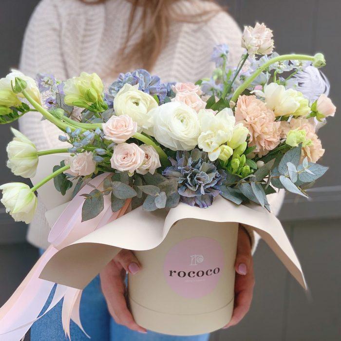 Коробка цветов Апрель