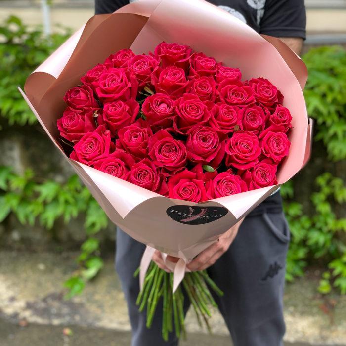 Моно букет из роз Шангри Ла